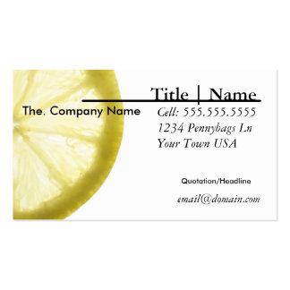 Tarjeta de visita del limón