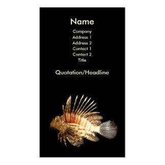 Tarjeta de visita del Lionfish