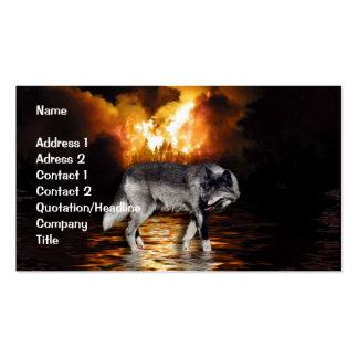 Tarjeta de visita del lobo gris