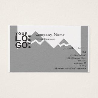 Tarjeta de visita del logotipo con imagen de fondo