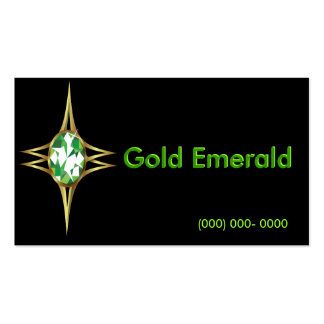 Tarjeta de visita del logotipo de la esmeralda y d