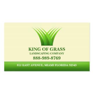 Tarjeta de visita del logotipo de la hierba del cu