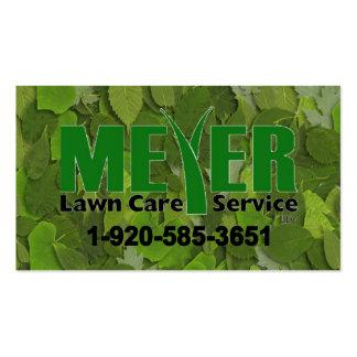 Tarjeta de visita del logotipo de Meyer