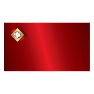Tarjeta de visita del logotipo del diamante