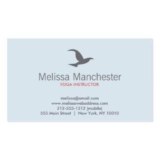Tarjeta de visita del logotipo del pájaro en vuelo