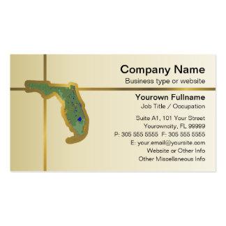 Tarjeta de visita del mapa de la Florida