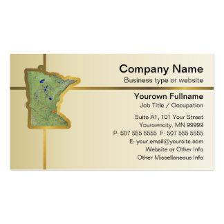 Tarjeta de visita del mapa de Minnesota