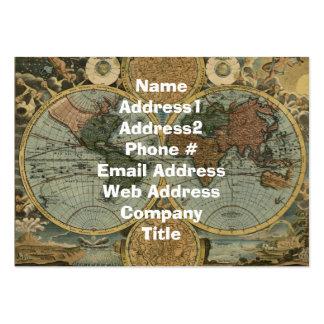 Tarjeta de visita del mapa de Viejo Mundo