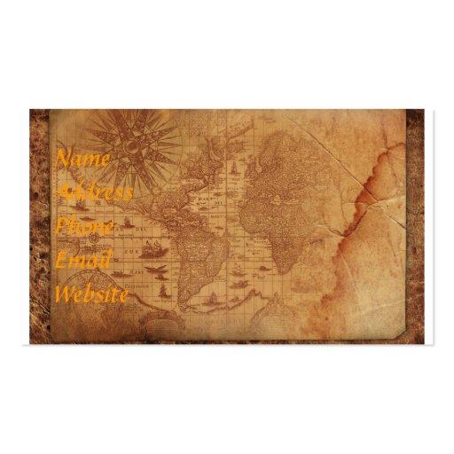 Tarjeta de visita del mapa del mundo