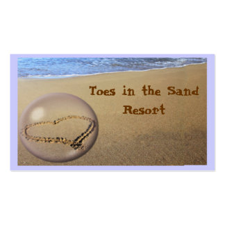 Tarjeta de visita del mar y de la arena.