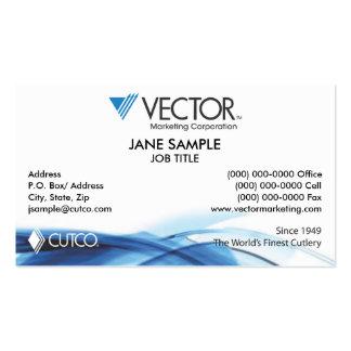 Tarjeta de visita del márketing del vector