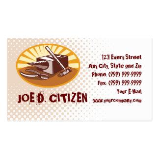 tarjeta de visita del martillo del herrero