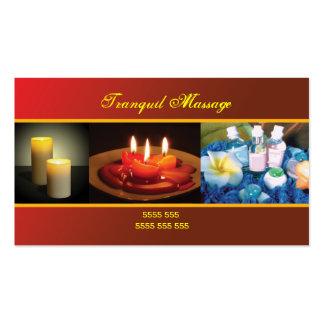 Tarjeta de visita del masaje de la relajación