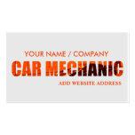 Tarjeta de visita del mecánico de coche