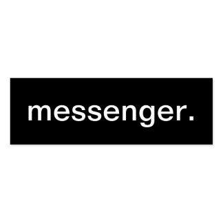 Tarjeta de visita del mensajero