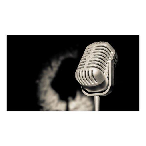 Tarjeta de visita del micrófono