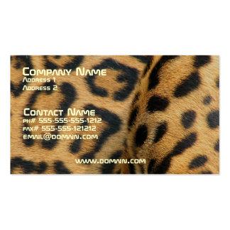 Tarjeta de visita del modelo de Jaguar
