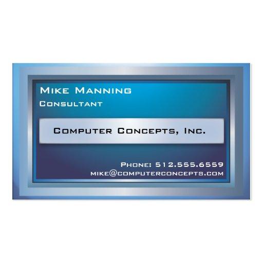 Tarjeta de visita del monitor de computadora