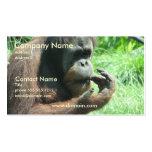Tarjeta de visita del mono del orangután