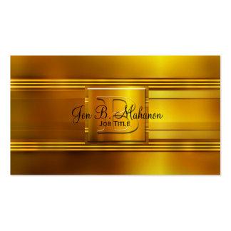Tarjeta de visita del monograma B del oro