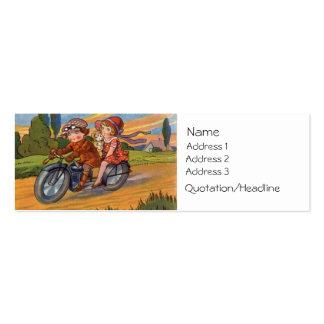 Tarjeta de visita del motorismo