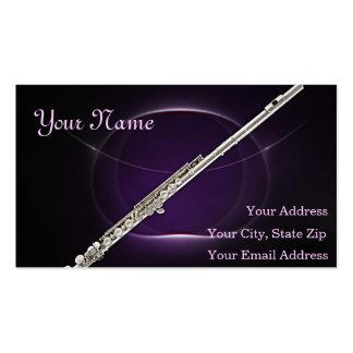 Tarjeta de visita del músico de la flauta