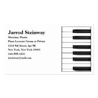 Tarjeta de visita del músico/del pianista