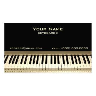Tarjeta de visita del músico del teclado