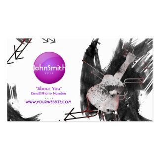 Tarjeta de visita del músico (Ukulele) - logotipo
