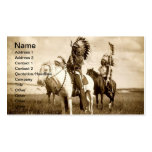 Tarjeta de visita del nativo americano