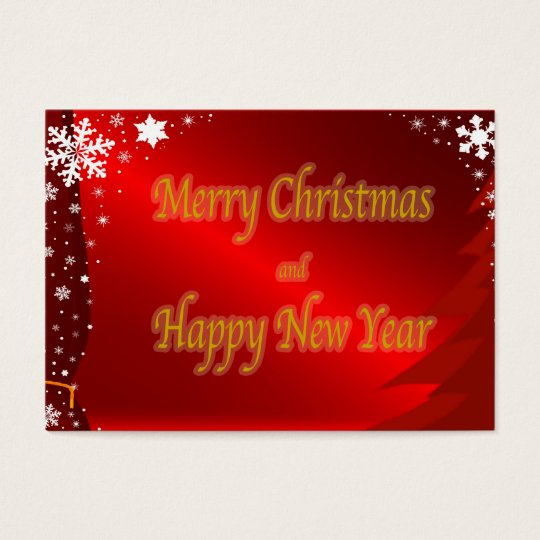 Tarjeta de visita del navidad