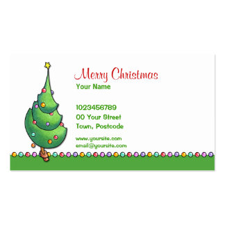 Tarjeta de visita del navidad Tree2