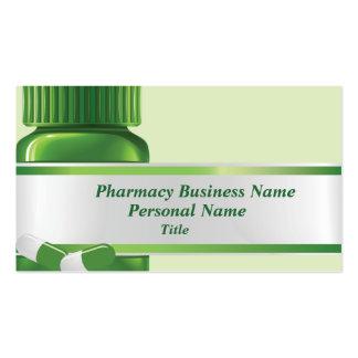 Tarjeta de visita del negocio de la farmacia