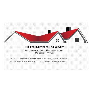 Tarjeta de visita del negocio de las propiedades i