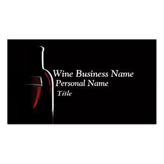 Tarjeta de visita del negocio del vino