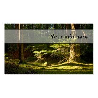 Tarjeta de visita del noroeste pacífica del bosque