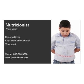 Tarjeta de visita del nutricionista