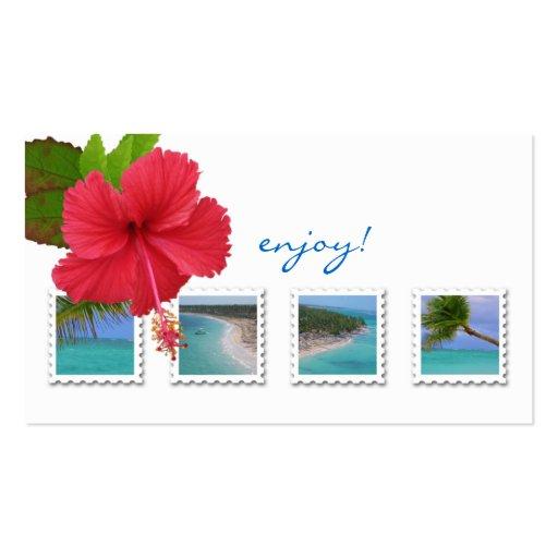 Tarjeta de visita del océano del hibisco del agent