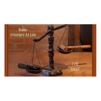 Tarjeta de visita del oeste vieja del abogado (taz