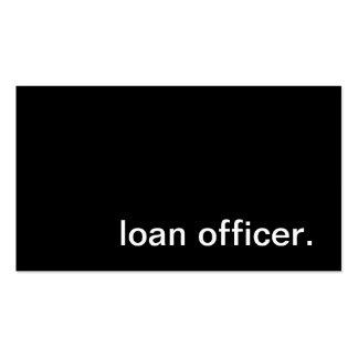 Tarjeta de visita del oficial de préstamo