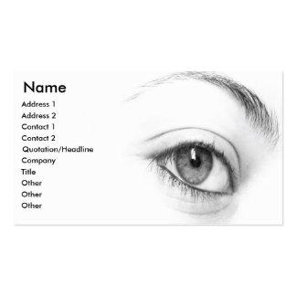 Tarjeta de visita del ojo