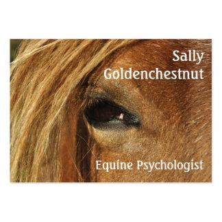 Tarjeta de visita del ojo del caballo