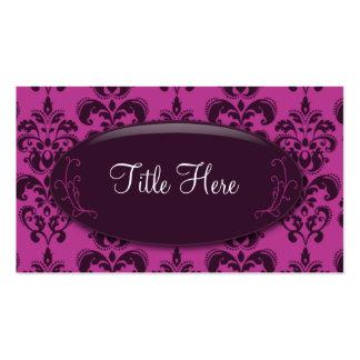 Tarjeta de visita del ópalo del damasco rosado