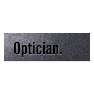 Tarjeta de visita del óptico del negro de carbón m