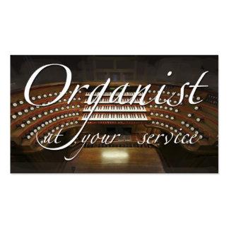 Tarjeta de visita del organista (órgano europeo)
