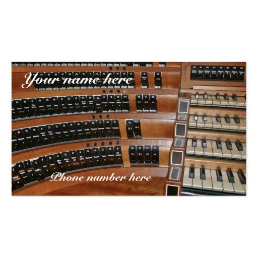 Tarjeta de visita del organista y calendario -