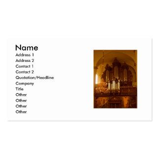 Tarjeta de visita del órgano