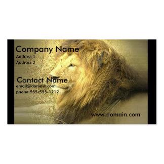 Tarjeta de visita del orgullo del león