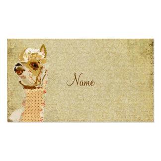 Tarjeta de visita del oro de la alpaca del vintage