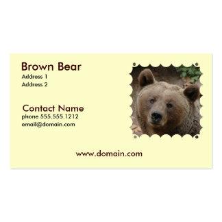 Tarjeta de visita del oso de Brown